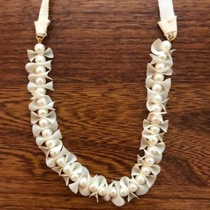 J. Crew Pearl Ribbon Necklace